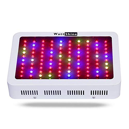 Wattshine M300W Led Grow Light,Full Spectrum DWC Hydroponic Grow Lights System 300W