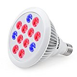24W LED Grow Light Bulb, UNIFUN E27 Growing Plant Lamp