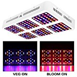 MORSEN Reflector-Series 1800W LED Grow Light Full Spectrum with VEG and Bloom Switch
