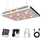 WILLS Cree COB Full Spectrum Grow Lights, 3000W LED Grow Lights for Indoor Plants Hydroponic Greenhouse with Thermometer Humidity Monitor and Adjustable Rope (Actual Power 619watt)